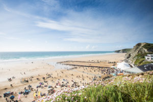 Aspall Polo on the Beach at Watergate Bay, Cornwall. Lewis Harrison-Pinder