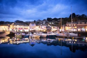 Padstow harbour illuminated during the Christmas Festival. James Ram