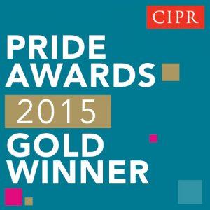 PRide 2015 Gold Winner Button