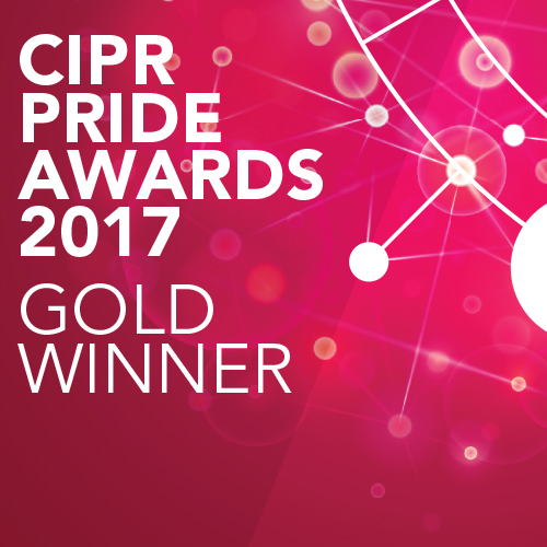 CIPR Pride Awards 2017 Gold Winner