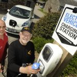 Electric vehicle charging station at The Olde House 2