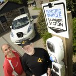 Electric vehicle charging station at The Olde House 3