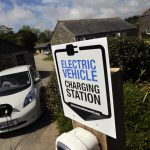 Electric vehicle charging station at The Olde House 4