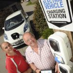 Electric vehicle charging station at The Olde House 5