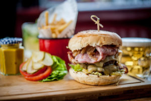 Food is served daily at all seven Three Cheers pubs. David Griffen