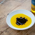 Mrs Middleton's Cold-Pressed Rapeseed Oil with balsamic vinegar.
