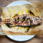 Red mullet cooked with Mrs Middleton's Cold-Pressed Rapeseed Oil.