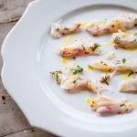 Red mullet with herbs and Mrs Middleton's Cold-Pressed Rapeseed Oil.