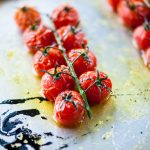 Tomatoes roasted with Mrs Middleton's Cold-Pressed Rapeseed Oil.