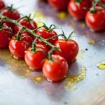 Tomatoes drizzled with Mrs Middleton's Cold-Pressed Rapeseed Oil.