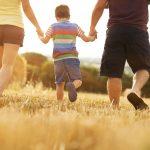 Little boy with parents