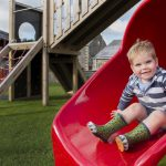 The Olde House has a large outdoor play area for young guests.
