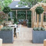 The garden at The Avalon in Clapham South, London.