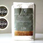 White stoneground flour with star logos