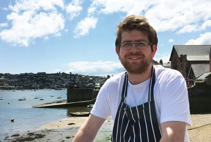 Richard Massey, head chef at The Old Quay House Hotel, Fowey, Cornwall. The Old Quay House Hotel
