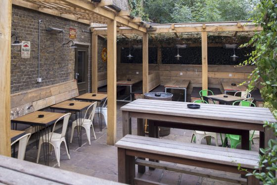 The courtyard at The Avalon in Clapham South, London. Naomi Gabrielle
