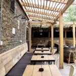 The courtyard at The Avalon in Clapham South, London.