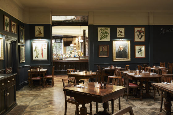 The dining room at The Princess Victoria in Shepherd's Bush, London. Lisa Linder