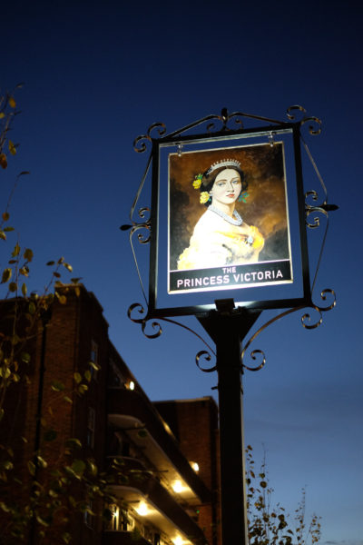 The exterior of The Princess Victoria in Shepherd's Bush, London. Barefoot Media
