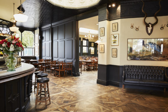 The bar and dining room at The Princess Victoria in Shepherd's Bush, London. Lisa Linder