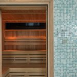 The sauna at The Olde House, north Cornwall.