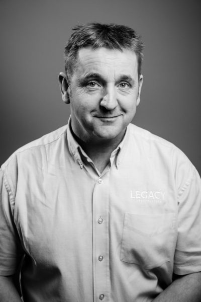 Chris Hoskin, Site Manager at Legacy Properties. Legacy Properties