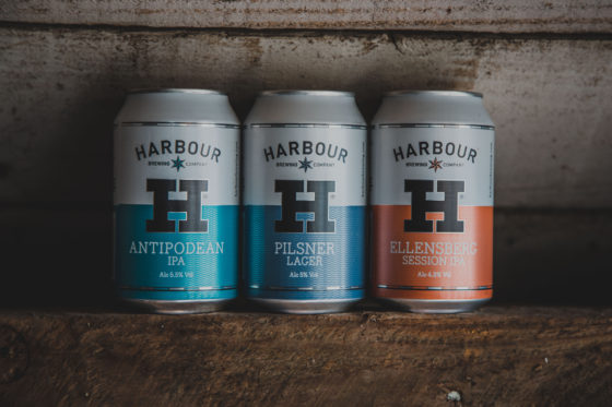 Canned beers from Harbour Brewing. Adam Sargent