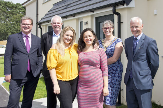 Ocean Housing group chief executive with developer, local Mayor and residents. Ocean Housing