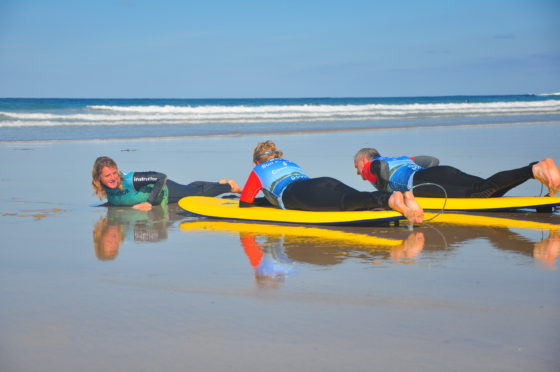 Surf lesson on Fistral Beach with the Surf Sanctuary, The Headland Hotel