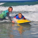 Surf lesson on Fistral Beach with the Surf Sanctuary.