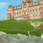 The Headland Hotel, overlooking Fistral Beach in Newquay.