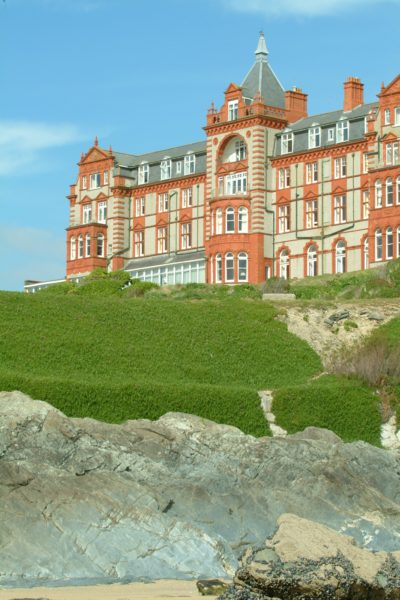 The Headland Hotel, overlooking Fistral Beach in Newquay. The Headland Hotel