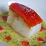 Fresh fish dish at the Samphire restaurant