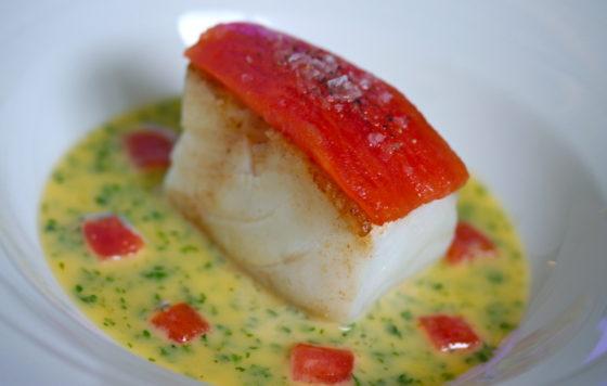Fresh fish dish at the Samphire restaurant Christopher Archambault