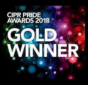 Gold award winner in the CIPR Pride Awards 2018
