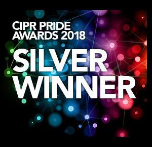 Silver award winner in the CIPR PRide Awards 2018