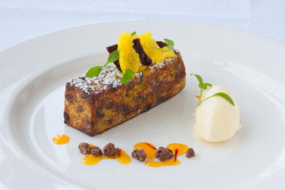 Homemade saffron cake at The Headland Hotel. Christopher Archambault