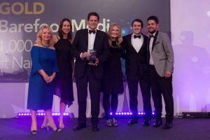 The Barefoot Media team at the 2018 CIPR PRide Awards in Bristol. CIPR Awards