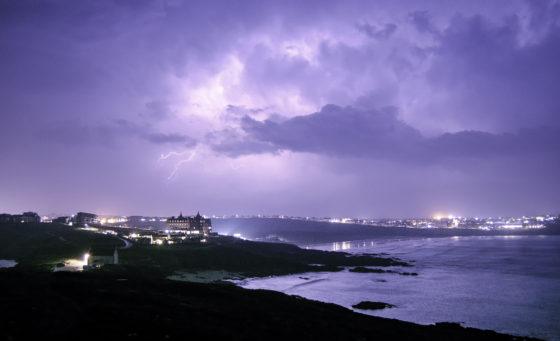 Dramatic storms near The Headland Hotel The Headland Hotel