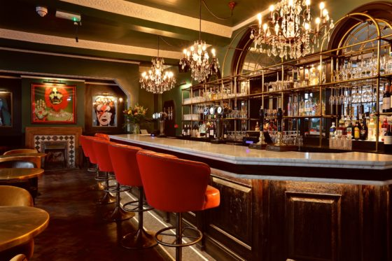 Bar area at The Bedford Johnny Stephens