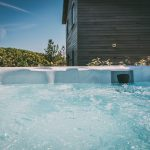 Private hot tub at Una St Ives