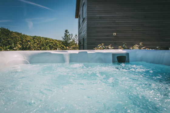 Private hot tub at Una St Ives Una St Ives