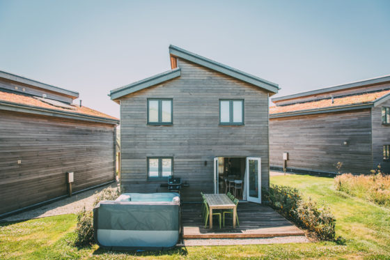 Lodge with private hot tub at Una St Ives Una St Ives