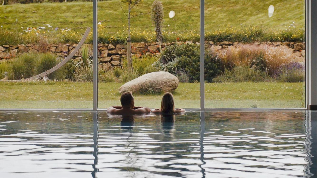 Luxury swimming pool at Una St Ives
