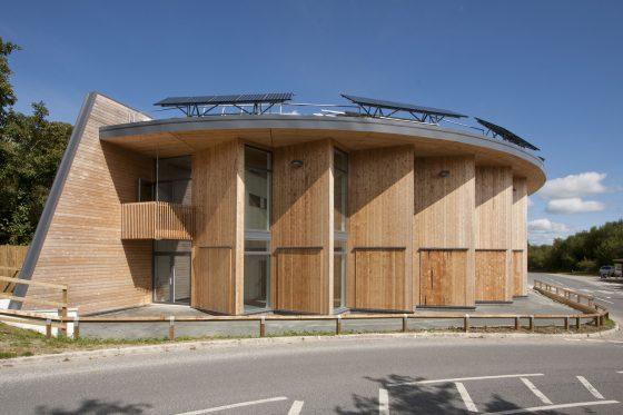 Gilbert & Goode's construction of the Green Hub at The Eden Project. Teresa Appleton