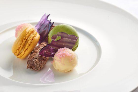 Macaroon dish at The Headland Hotel David Griffen