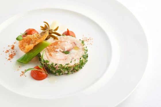 Seafood dish at The Headland Hotel David Griffen