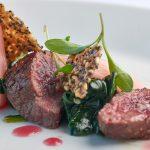 Roast beef dish at The Headland Hotel