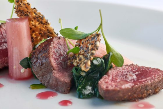 Roast beef dish at The Headland Hotel David Griffen