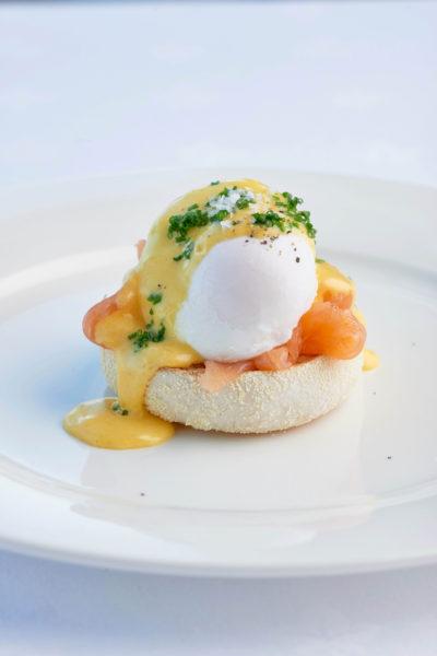 Eggs Benedict at The Headland Hotel David Griffen